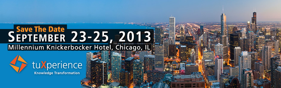 Save the Date. Septemeber 23-25, 2013 - Millennium Knickerbocker Hotel, Chicago, IL.