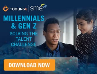 Millennial and gen z manufacturing professionals work together